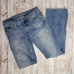 american eagle hipster flair jeans long size 0